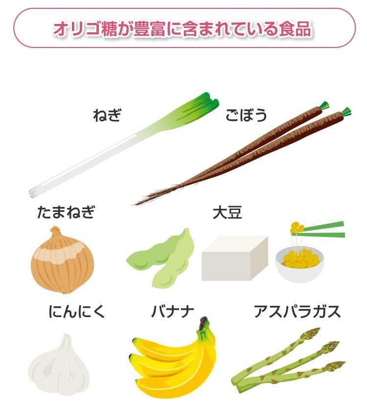 オリゴ糖が豊富に含まれている食品